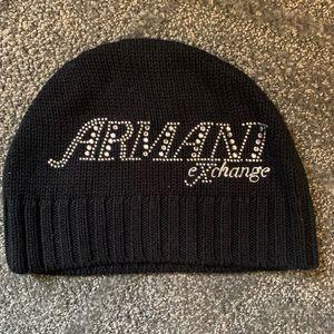 Armani Exchange Gem Beanie Black
